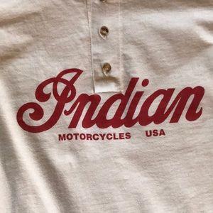 Indian Motorcycle Henley Tee long Sleeves